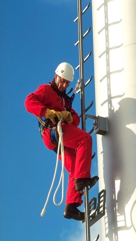 Страховка при работе на крыше